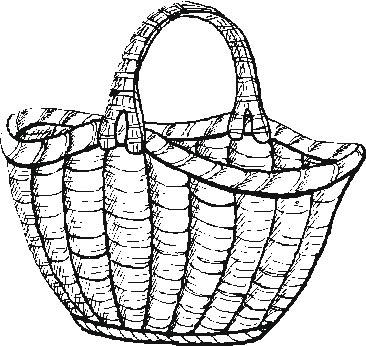 Empty Bushel Basket Coloring Page Coloring Pages Basket Coloring Page
