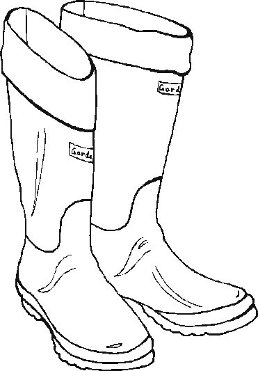 coloring pages boots - free santa boot outline coloring pages
