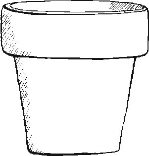 Garden Flower Pot Coloring Pages Flower Pot Coloring Page